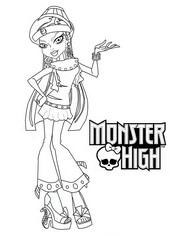coloriage monster high nefera nile