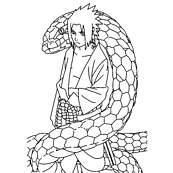 coloriage naturo sasuke et son serpent