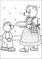 Coloriage petit ours brun et maman ours - Petit ours brun et sa maman ...