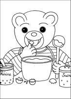 Coloriage petit ours brun fait le gourmand - Coloriage petit ours brun a imprimer ...