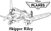 coloriage planes skipper rilley