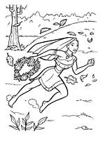 coloriage pocahontas court