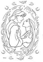 coloriage pocahontas et john smith