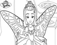 Coloriage princesse sofia beau papillon - Coloriage princesse ambre ...