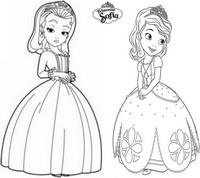 coloriage princesse sofia et ambre