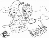 Coloriage princesse sofia et la sorciere - Coloriage princesse ambre ...