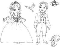 Coloriage princesse sofia et prince james - Coloriage princesse ambre ...