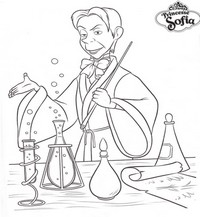 coloriage princesse sofia  le sorcier royal