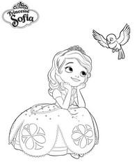 Coloriage princesse sofia reveuse - Coloriage princesse ambre ...