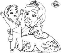 Coloriage princesse sofia et le prince james - Coloriage princesse ambre ...