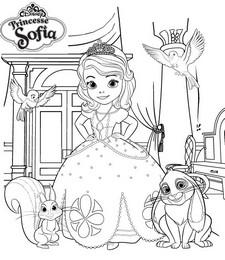 Coloriage princesse sofia et ses amis - Coloriage princesse ambre ...