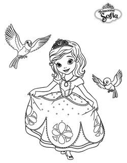 Coloriage princesse sofia robin et mia - Coloriage princesse ambre ...