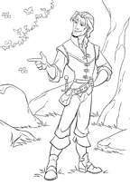 Coloriage raiponce le prince - Cheval raiponse ...