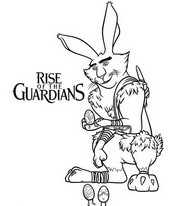 coloriage rise of guardians lapin