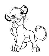 Coloriage A Imprimer Le Roi Lion