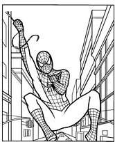 Coloriage spiderman dans le ciel - Coloriage spiderman mechant ...