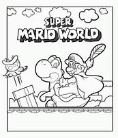 coloriage super mario world