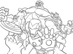 coloriage the avengers attaquent