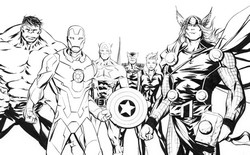 coloriage the avengers l equipe