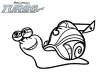 Coloriage turbo l escargot fonce - Coloriage escargot turbo ...