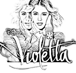 coloriage violetta disney