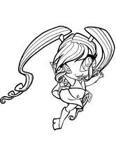 coloriage winx mini