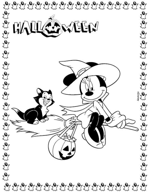 Coloriage A Imprimer Minnie A Halloween Gratuit Et Colorier