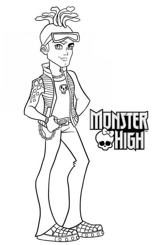 Coloriage a imprimer monster high deuce gordon gratuit et colorier - Coloriage monster high a imprimer ...