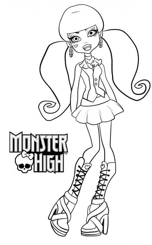 Coloriage a imprimer monster high draculaura gratuit et - Coloriages monster high a imprimer ...