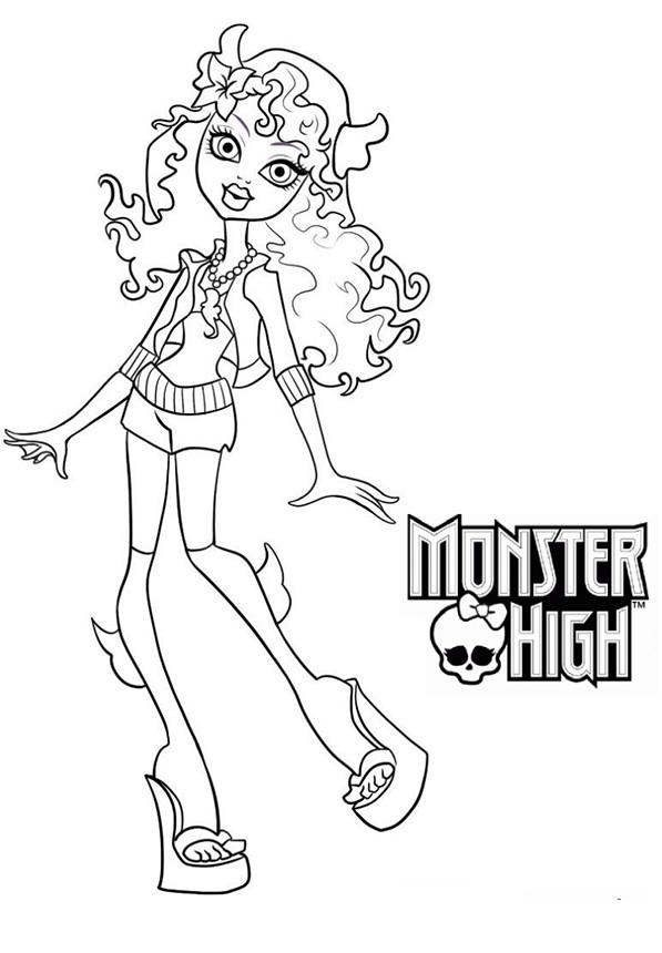 Coloriage a imprimer monster high lagoona blue gratuit et colorier - Coloriage de monster high ...