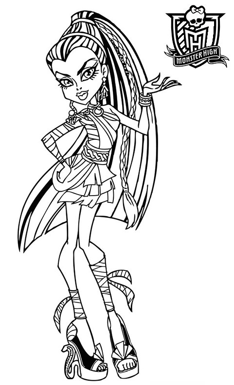 Coloriage a imprimer monster high nefera de nille en bandelette gratuit et colorier - Coloriage a imprimer monster high ...