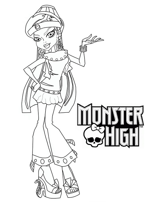 Coloriage a imprimer monster high nefera nile gratuit et colorier - Coloriage a imprimer monster high ...