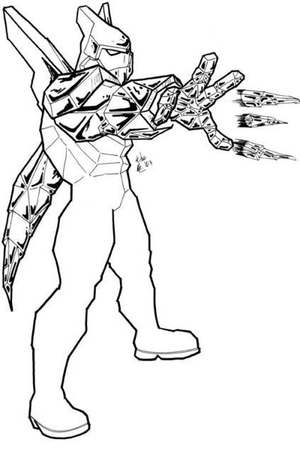 Coloriage a imprimer monstre alien force ben 10 gratuit et ...