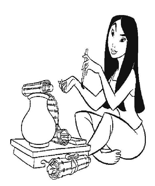 Coloriage a imprimer mulan ecrit gratuit et colorier - Mulan coloriage ...