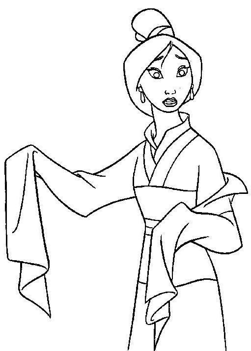 Coloriage a imprimer mulan en tenue de ceremonie gratuit - Mulan coloriage ...