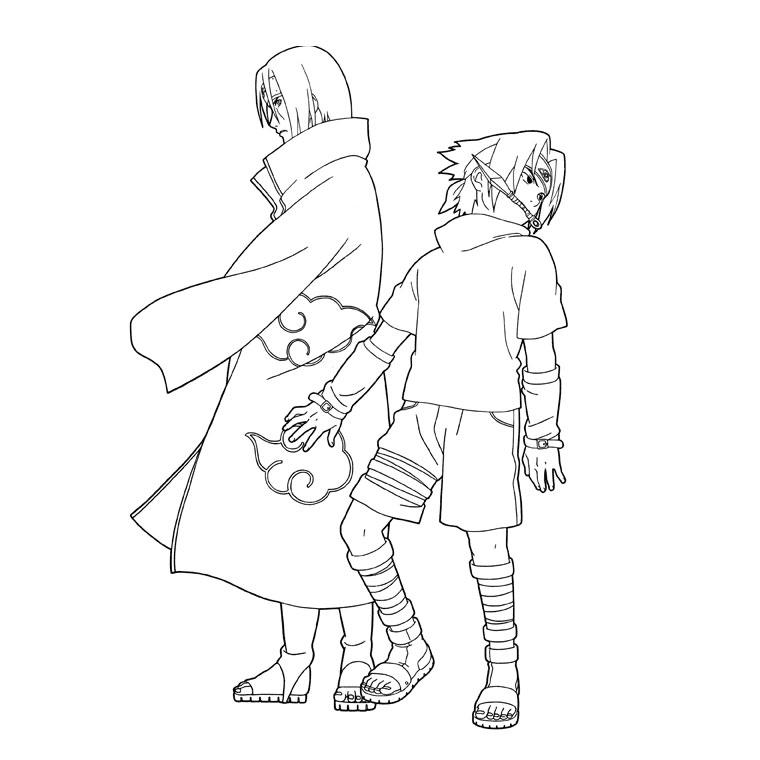 Coloriage a imprimer naruto sasuke et itachi uchiha - Naruto kyubi dessin ...