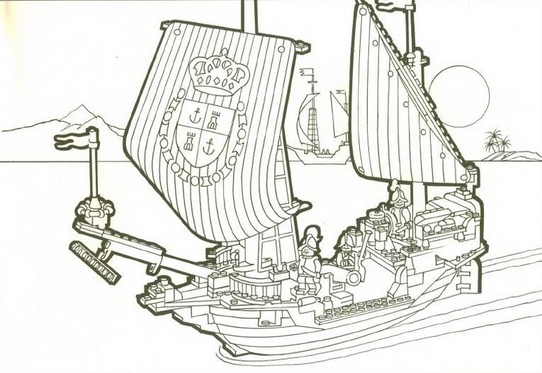 Coloriage a imprimer navire lego gratuit et colorier - Dessin de lego ...