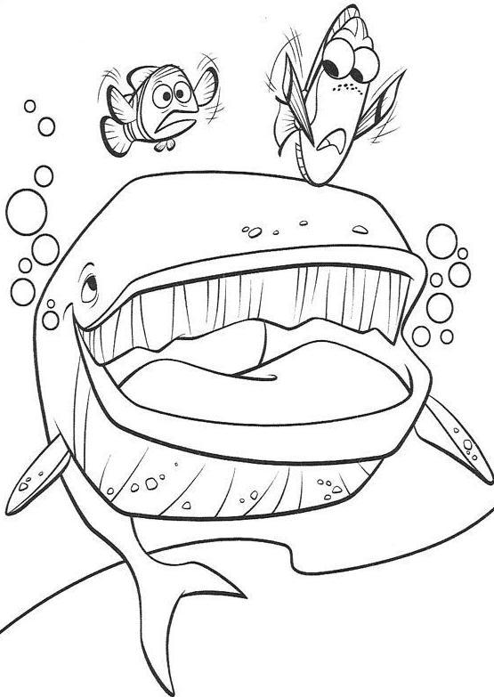 Coloriage A Imprimer Nemo Et Son Papa Poursuivit Par Une Baleine Gratuit Et Colorier