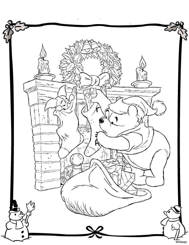 Free Disney Merry Christmas Coloring Pages Disney Merry Coloring Pages