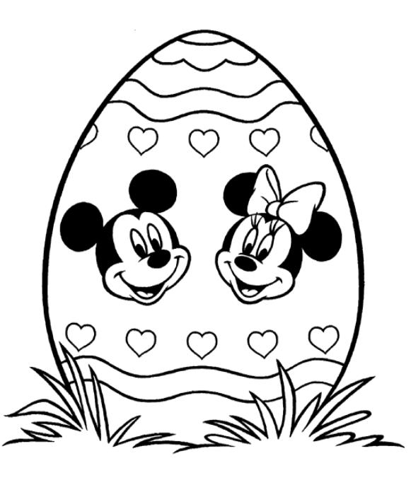 coloriage a imprimer oeuf de paques de mickey et minnie. Black Bedroom Furniture Sets. Home Design Ideas