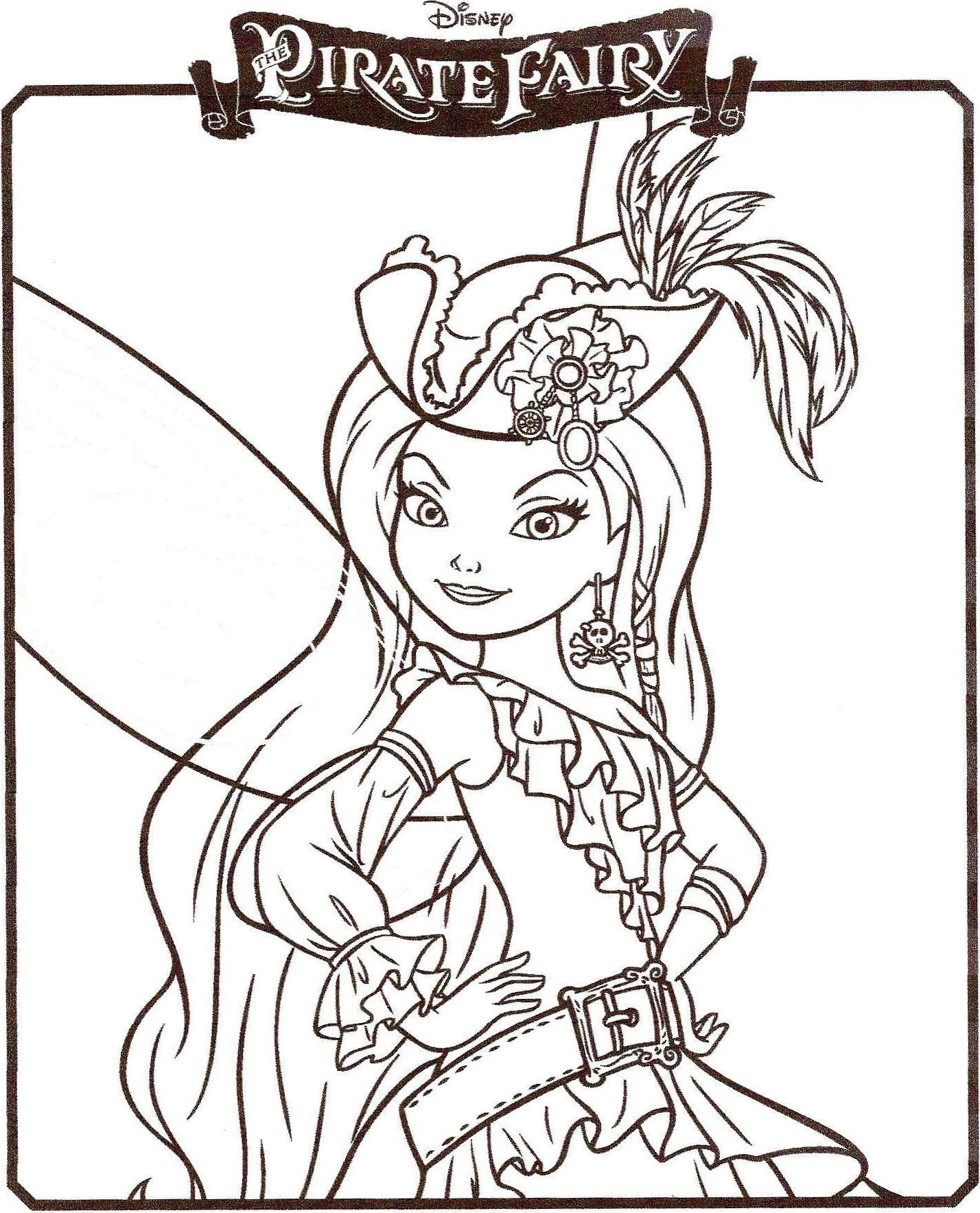 coloriage ondine fee pirate