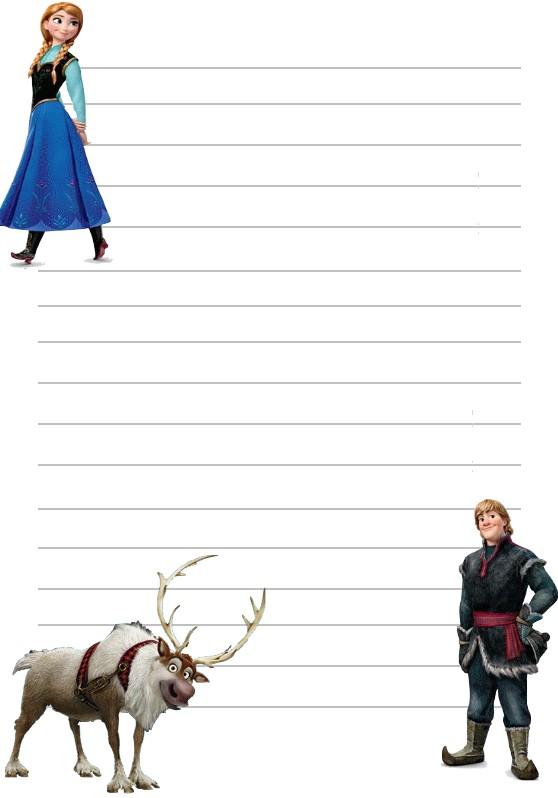Papier a lettre reine des neiges anna et kristoff a imprimer - Papier peint reine des neiges ...