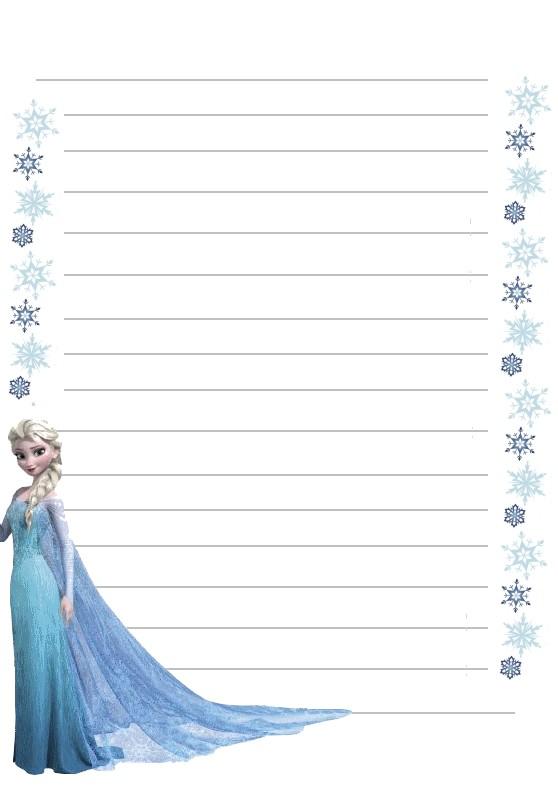 Papier a lettre reine des neiges elsa flocon de neiges a imprimer - Papier peint reine des neiges ...