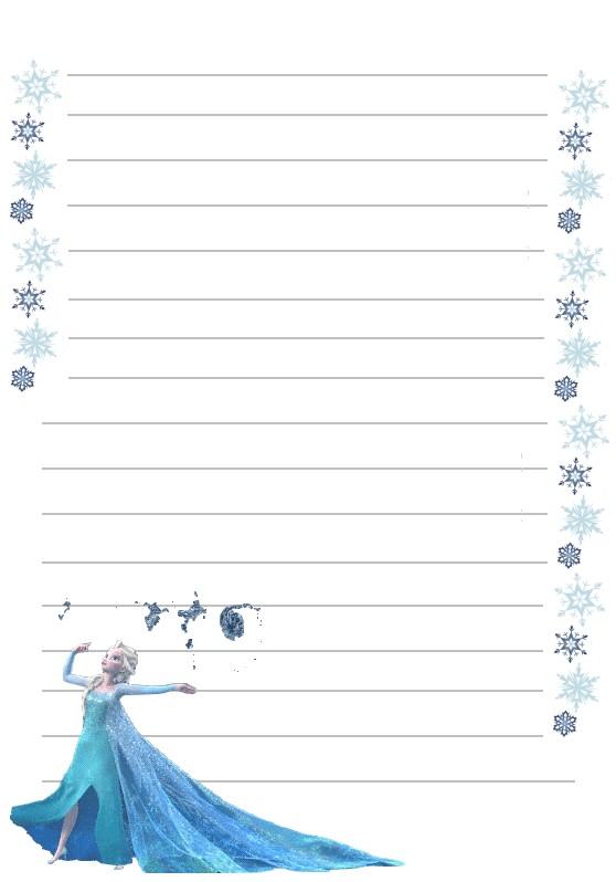 Papier a lettre reine des neiges elsa a imprimer - Papier peint reine des neiges ...