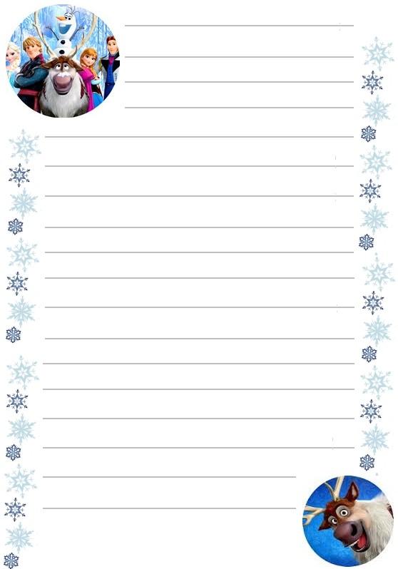 Papier a lettre reine des neiges personnages a imprimer - Papier peint reine des neiges ...