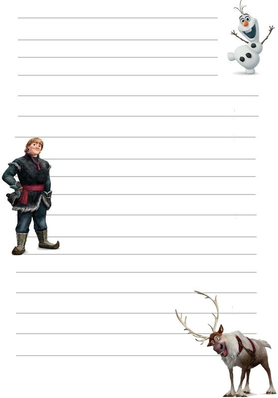 Papier a lettre reine des neiges swen olaf kristoff a imprimer - Papier peint reine des neiges ...