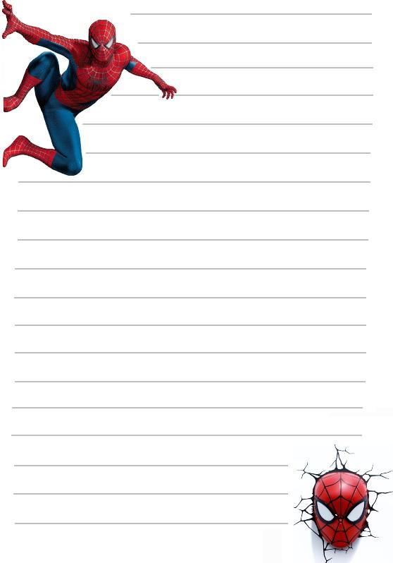 Papier a lettre spiderman sur le mur a imprimer - Photo de spiderman a imprimer gratuit ...