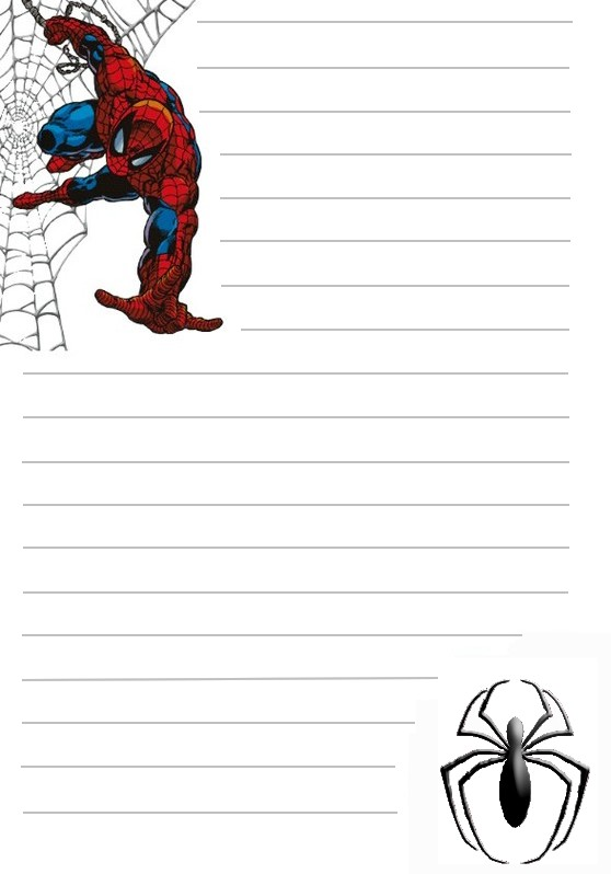 Papier A Lettre Spiderman A Imprimer