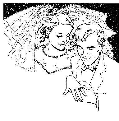 Coloriage a imprimer passage des alliance mariage gratuit et colorier