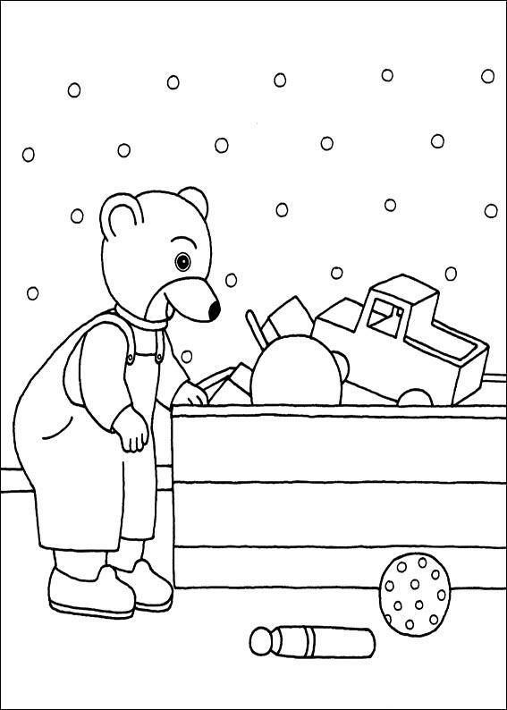 Coloriage a imprimer petit ours brun devant son coffre a - Coffre dessin ...